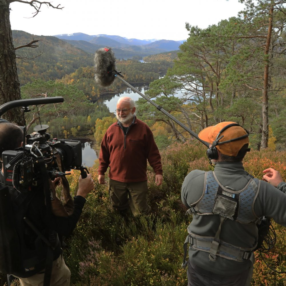 Filming in Glen Affric