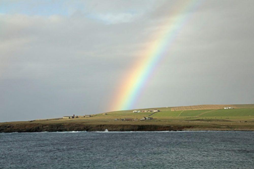 Rainbow, Orkney, Scotland.